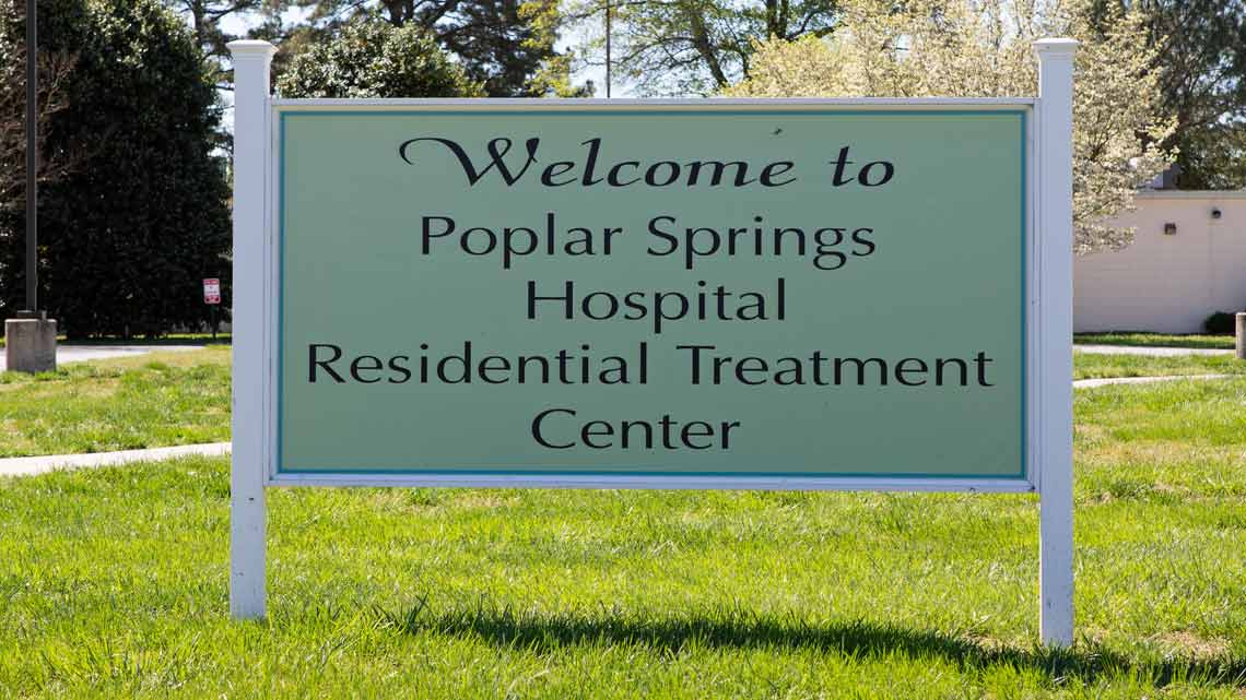 Welcome to Poplar Springs Hospital Residential Treatment Center